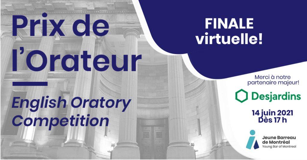 FINALE virtuelle   Prix de l'Orateur/English Oratory Competition